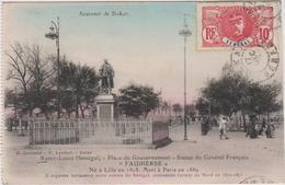 Senegal  Saint Louis  Place Du Gouvernement Statue Du General Francais Faidherbe  Ne A Lille En 1818 - Senegal