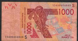 W.A.S. GUINEA BISSAU P315So 1000 FRANCS (20)15 Signature 28 FINE NO P.h. - Guinea-Bissau