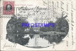 101598 CHILE SANTIAGO QUINTA NORMAL LAGUNA CIRCULATED TO ARGENTINA POSTAL POSTCARD - Chile