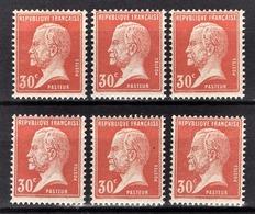 FRANCE 1922 / 1926 - LOT 6 TP / Y.T. N° 173  - NEUFS** - France
