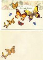Prachtige Wenskaart Met Vlinders In Nieuwstaat Geleverd Met Bijhorende Enveloppe - Cartes Postales