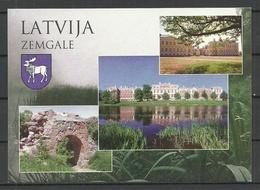 LATVIA Post Card Zemgale Jelgave Rundale Etc Palaces - Lettonie