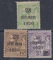 Monaco N° 48 / 50 XX  : Baptême De La Princesse Antoinette : Les 3 Valeurs Sans Charnière  TB - Monaco