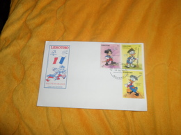 ENVELOPPE FDC DE 1989. / LESOTHO SALUTE TO FRANCE PHILEXFRANCE 89. / CACHET + TIMBRES MICKEY DONALD - Lesotho (1966-...)