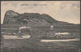 Rock From North West, Gibraltar, C.1910 - V B Cumbo Postcard - Gibraltar