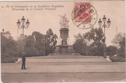 Argentine   Buenos Aires    1 Er Centenario De La Republica Argentina Homenaje De La Colonia Francesa - Argentina