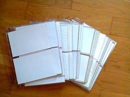 50 Pages Transparentes (4 Enveloppes R/V Par Page) Pour Album THIAUDE Ref. RHODO-GLOBE Format 280 X 255 Occasion - Albums Pour Enveloppes