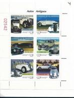 EL SALVADOR, 1997, ANTIQUE CARS, AUTOMOBILES, SCOTT 1476 M/S 6 VALUES FULL SHEET - El Salvador
