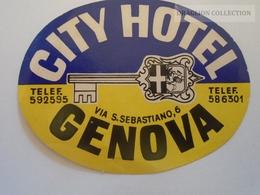 D161341  Hotel Label - GENOVA  CITY HOTEL  Italy Italia - Adesivi Di Alberghi