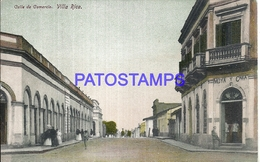 101609 PARAGUAY VILLA RICA STREET CALLE DE COMERCIO BREAK POSTAL POSTCARD - Paraguay