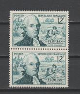 FRANCE / 1955 / Y&T N° 1021 ** : Florian X 2 En Paire - Gomme D'origine Intacte - France