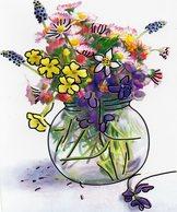 Prachtige Wenskaart Met Bloemen  In Nieuwstaat Geleverd Met Bijhorende Enveloppe - Cartes Postales