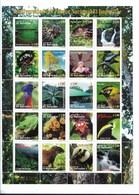 EL SALVADOR, El Impossible National Park MiniSheet Of 20 Values,  SCOTT 1538 M/S, BIODIVERSITY BIRDS NATURE FAUNA FLORA - El Salvador