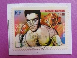 Timbre France YT 3312 - Le Siècle Au Fil Du Timbre - Le Sport - Marcel Cerdan - 2000 - Tampon Rond - Boxe