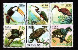 "CUBA 1989 FAUNA- BIRDS ""BRASILIANA'89"" EXPO PHILAT. 6v.- OBLITERES/used (O) - Oiseaux"