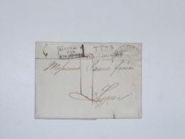 Lettre Hamburg TTR4 Thurn & Taxi Taxe 17 Pour Lyon 1822 - Hambourg