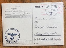 LIDIO CIPRIANI CARTOLINA AUTOGRAFA ALLA  MOGLIE ADAMARIA DEL 27/5/44  ANCORA PRIGIONIERO DEI TEDESCHO A VIENNA - Autografi