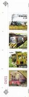 EL SALVADOR 2000, RAILWAYS, TRAINS, LOCOMOTIVES, STRIP OF 4, SCOTT 1542 - El Salvador