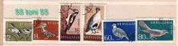 BULGARIA / Bulgarie 1959 BIRDS   6v - Used ; Oblitere (O) - Birds