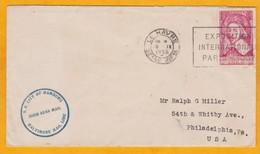 1935 - Enveloppe De Le Havre Vers Philadelphie, USA Par Paquebot SS City Of Hamburg - Baltimore Mail Line - Postmark Collection (Covers)