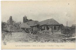 GUERRE 14 18 SOMME EGLISE DE FEUILLERES - Guerre 1914-18