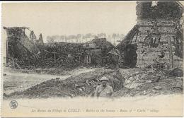GUERRE 14 18 SOMME CURLU LES RUINES DU VILLAGE - Guerre 1914-18