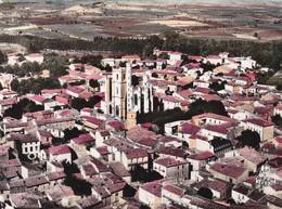 34 / CAPESTANG / VUE AERIENNE DE LA COLLEGIALE / CIRC 1958 - Capestang