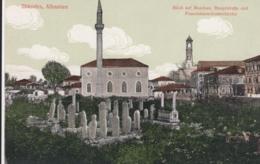 AK - (Albanien) SHKODRA - Blick Auf Moschee Mit Friedhof Und Klosterkirche 1912 - Albanien
