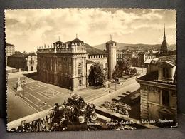 (FG.I49) TORINO - PIAZZA CASTELLO E PALAZZO MADAMA (viaggiata 1956) - Palazzo Madama