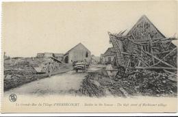 GUERRE 14 18 HERBECOURT LA GRANDE RUE DU VILLAGE - Guerre 1914-18