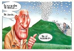 Illustrateurs - Illustrateur Bernard Veyri - Durtol - Imprimerie - Caricature - Haroun Tazieff - Autographe - Signature - Veyri, Bernard