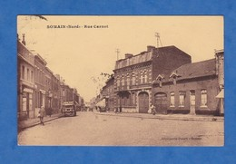 CPA - SOMAIN - Rue Carnot - Camion Publicitaire Bière Baré - 1934 - Maison Fontaine Déménagement - France