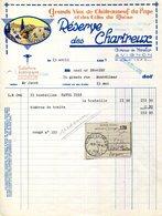 """84.AVIGNON.GRANDS VINS DE CHATEAUNEUF DU PAPE & DES COTES DU RHONE """"RESERVE DES CHARTREUX. - Food"""