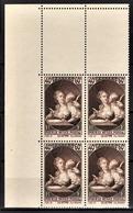FRANCE 1939 - BLOC DE 4 TP / Y.T. N° 446 - NEUFS**  COIN DE FEUILLE - Unused Stamps