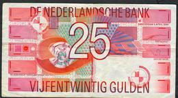 NETHERLANDS P100 25 GULDEN 5.4.1989 # 2241563720.   VF NO P.h. - [2] 1815-… : Reino De Países Bajos