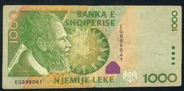 ALBANIA PP69 1000 LEKE 2001 # EG       VF NO P.h. - Albanie