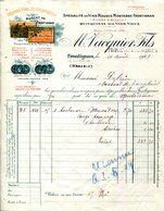 13.FRONTIGNAN.GRANS VINS MUSCAT DE FRONTIGNAN.M.VACQUIER FILS PROPRIETAIRE NEGOCIANT. - Food