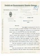 Correspondance - 94 IVRY PORT - Etablissements Richard Georges  Automobile Cycles 1903 - Automobile