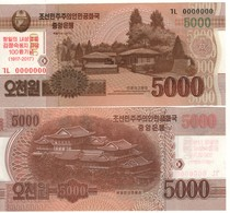 North KOREA    5'000 Won   (2017)   PNew  Commeroative 1917/2017  (All Zero Serial Number) UNC - Corée Du Nord