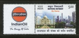 India 2017 Mathura Refinery My Stamp Taj Mahal Oil Petroleum Energy MNH # M77 - Oil
