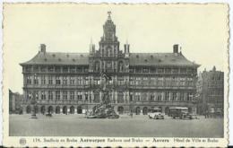 Antwerpen - Anvers - 134 - Stadhuis En Brabo Antwerpen - Rathaus Und Brabo - Albert - Phototypie A. Dohmen - 1946 - Antwerpen