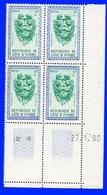 Côte D'Ivoire Bloc De 4 Coin Daté N°183 Neufs** 27/1/1960 - Ivoorkust (1960-...)