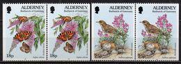Alderney - 1997 - Yvert N° 100a & 101a **  - Série Courante, Faune Et Flore - Alderney