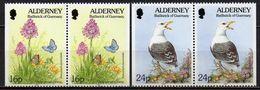 Alderney - 1994 - Yvert N° 75a & 77a **  - Série Courante, Faune Et Flore - Alderney