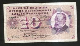SVIZZERA / SUISSE / SWITZERLAND - NATIONAL BANK - 10 FRANCS / FRANKEN (1959) G. KELLER - Svizzera