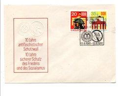 ALLEMAGNE RDA DDR 1971 10 ANS DU MUR DE BERLIN - WW2
