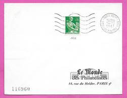 Lettre Moissonneuse - Obliteration PARIS XVI TER  Session Ministérielle OTAN  1961 - Postmark Collection (Covers)