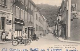 Ardéche : LE CHEYLARD : Rue De La Poste ( Trés Belles Motos ) - Le Cheylard