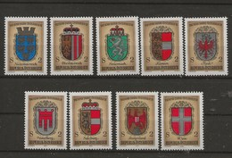 1000 Ans De L' Histoire Autrichienne.-Armoiries Des Provinces. - 1945-.... 2ème République