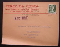 Le Havre 1958 Perez Da Costa Wine Shipper London Oporto Le Havre - 1921-1960: Période Moderne
